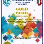 Medalia de aur IWIS 2017