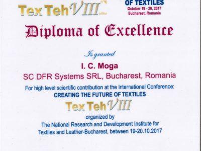 Diplomă TexTeh VIII - 2017