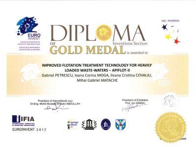 Medalia de aur Euroinvent - 2017