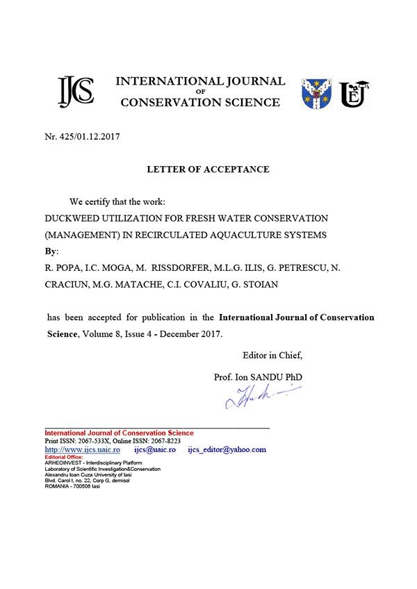 Scrisoare de acceptare