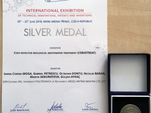 Silver Medal at European Exhibition of Creativity and Innovation, 2018, Iasi, Romania