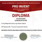 PROINVENT 2019 – Diploma de excelență
